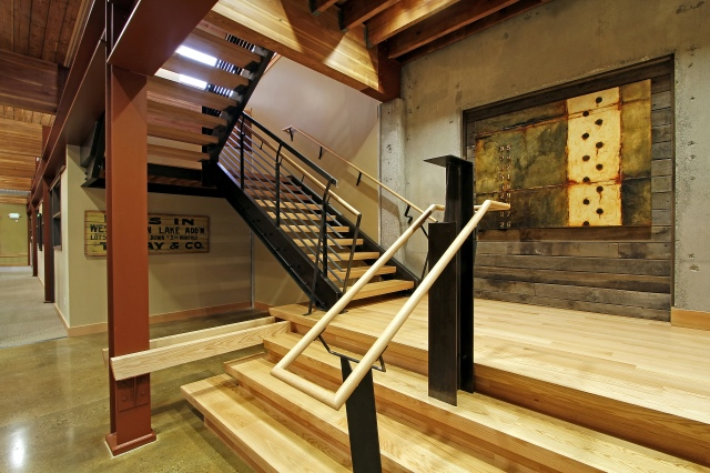 Contemporary Industrial Commercial Stairs